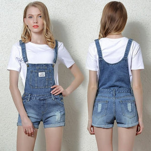 Denim Overalls Women Casual Pants