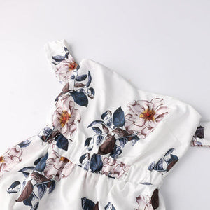 Floral Print Long Sleeve Boho Dresses Women Summer Clothing