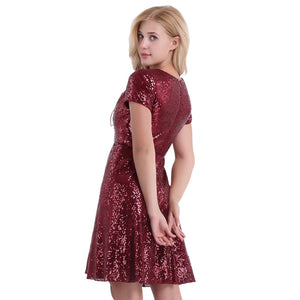 Vestidos Shiny Sequins Inner Lining Office Club Cocktail Party Dress