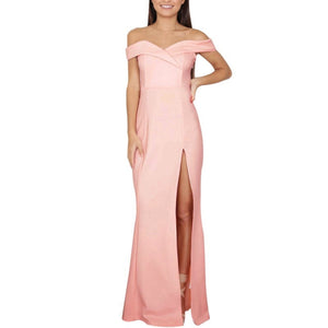 Elegant Bohemian Sexy Maxi Party Strapless Solid Girl Dresses Vestidos