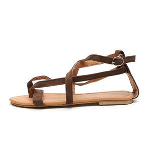 Gladiator Sandals Woman's Causal Flat  Comfortable Beach & Sea Vacation Shoes