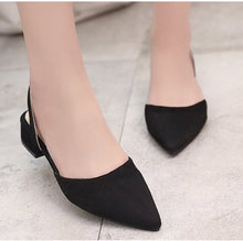 Slingback Summer Sandals Flock Casual Pointed Toe Elegant Low Heels Party Wedding Shoe