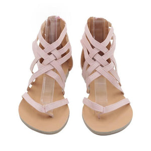 Flats shoes  Fashion Casual  European Rome zipper Sandals
