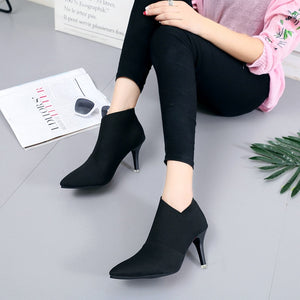 Autumn Winter Fashion Woman Boots High Heels Women Ankle Booties