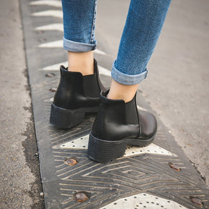 Fashion Women Chelsea Boots Ankle Booties