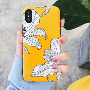 Yellow Floral Fashion iPhone Cover Cases