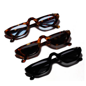 Trendy 90s Retro Sunglasses Tiny Small glasses