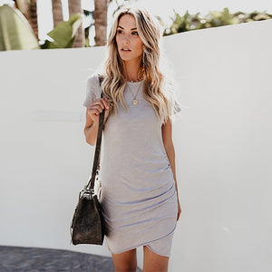Sexy Bodycon Pencil Mini Women Short SLeeve Sundress Party