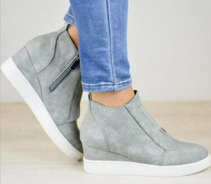 Women Wedge Sneakers Shoes Ankle Boots