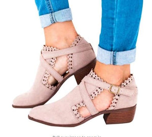 Women Ankle Boots Fall High Heels Ladies Booties