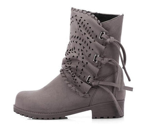 Vintage Fall Boots Fashion Booties