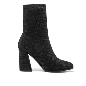 Women Boots Stretch Fabrics Spring Autumn Shoes High Heels Pointed Toe Ladies Sock Boots