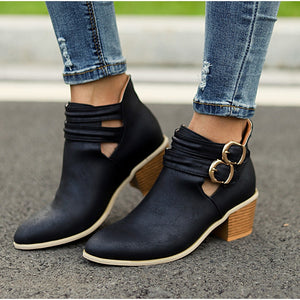 Women Casual Ankle Boots Autumn Ladies Fashion Shoes Footwear