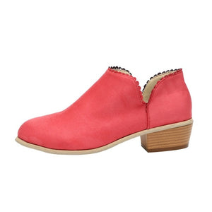 Fashion Women Fall Spring Ankle Boots Casual Shoes