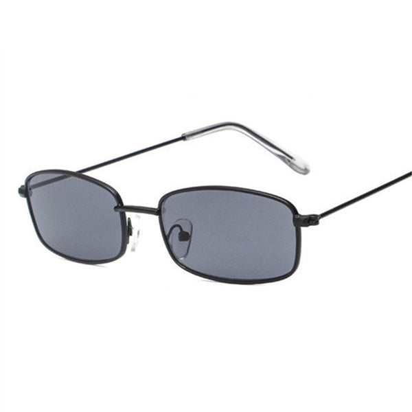 1990s Rectangle Small Retro Metal Frame Sunglasses