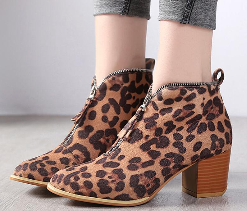 44edb55874b Women Ankle Boots Autumn Chunky High Heels Pumps Shoes – Mint Rock Co