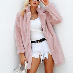 Teddy Bear Coat Jacket Faux Fur