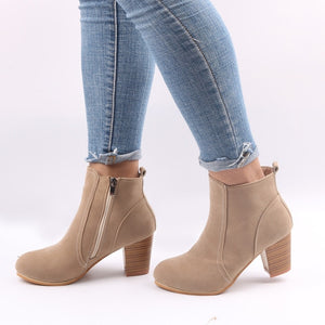 Women Ankle Boots Spring Autumn Heels Shoes