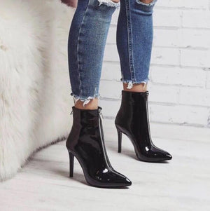 Ladies Thin High Heels Boots Fashion Pointed Toe Shoes