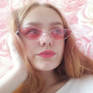 Small Cat Eye Sunglasses 90s Vintage