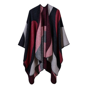 New Women's Winter Scarf Cashmere Ponchos Capes