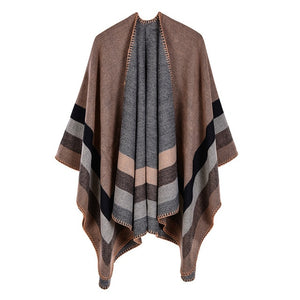 Casual Fall Winter Cashmere Ponchos and Capes Fashion