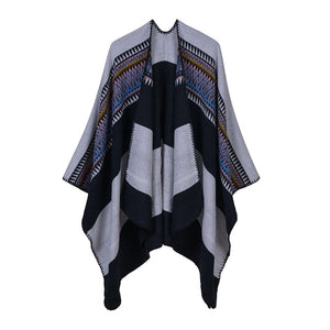 Winter Women's Cashmere Ponchos and Capes Casual
