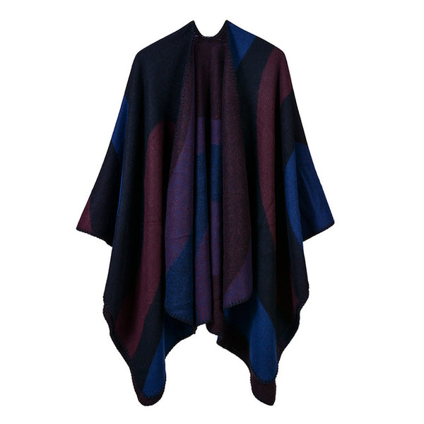 Women's Cashmere Ponchos Capes Fashion Outfits