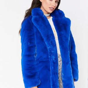 Faux Fur Teddy Coat Women Warm Flurry Jackets Winter Fall Outwear