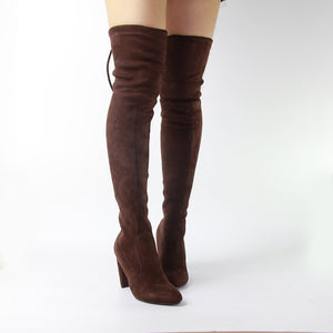 Womens Over Knee Boots High Heels Booties Shoes