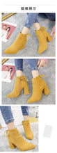 Winter Women Shoes Chunky Boots High Heels Ankle Boot Booties