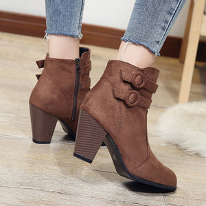 Women Ankle Boots For Women High Heel Autumn Shoes