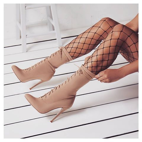 67cf2532dce Womens Casual Lace Up Boots Autumn High Heels Pointed Toe Shoes