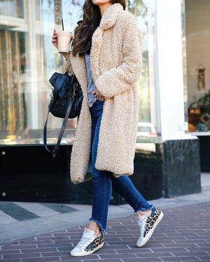 Winter Fuax Fur Teddy Bear Coat Women Jacket Autumn