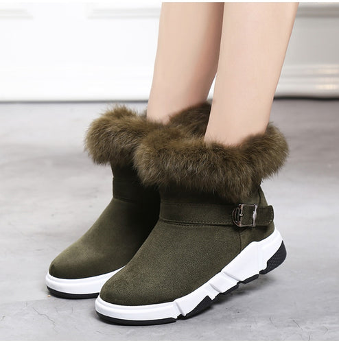 eeed00eaba0d Snow Boots For Woman Winter Ankle Boot Cusual Flat Shoes