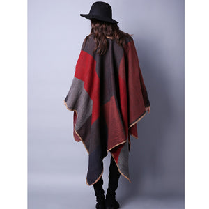 Women's Winter Pashmina Thick Cashmere Ponchos and Capes
