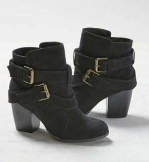 Autumn Winter Women Boots Casual Ladies Martin Suede Leather Shoes