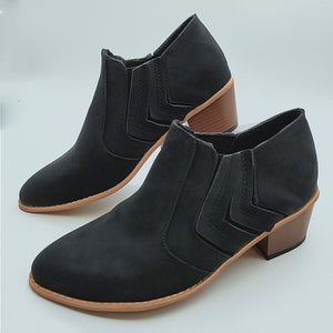 Women Ankle Boots High Heels Shoes