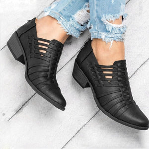 Women Boots Wedges Ankle Boots Autumn Female Shoes