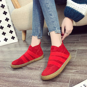 Autumn Winter Women Ankle Boots Casual Ladies Shoes