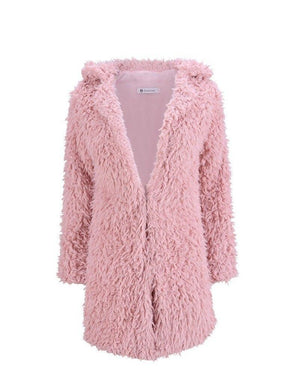 Women Winter Jacket Coat Faux Fur Teddy Bear Coat