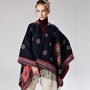 Women's Fall Winter Ponchos and Capes Outfits