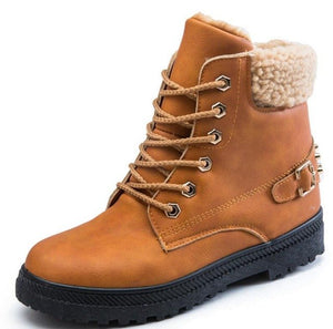 Women Ankle Snow Boots Warm Shoes