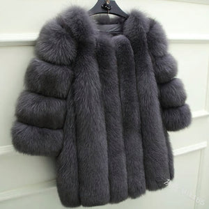 Fashion Warm Faux Fur Coat Women Casual Winter Jackets