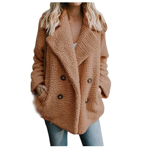 Faux Fur Outerwear Warm Thick Teddy Coat Loose Oversize Plus Size