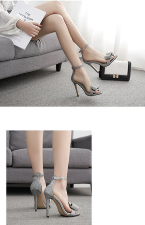 Sexy Super High Thin Heel  Peep Toes Club Shoes  Elegant Sandals