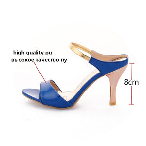 Women Sandals Slip On Elegant Stiletto High Heels Shoes