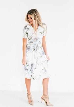 Floral Print Lace-Up Wrap Ruffles Tunic A Line Chiffon Dresses Vacation