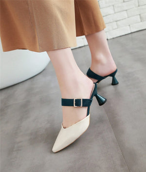 Women Sandals High Heels Summer Buckle Fashion Party Prom Shoes