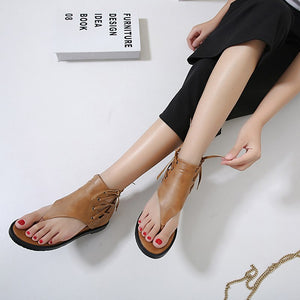 Women's Sandals Cross Tied Ladies Shoes Roman Style Shoe